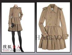 <b>宫廷风格的裙式风衣宫廷风格 宫廷裙式风衣</b>