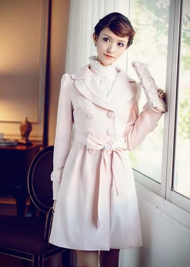 甜美+帅气 双重气质风衣