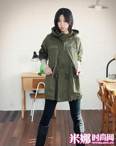 军绿色风衣 熟女最爱 作为寒风凛冽的冬日必备佳品
