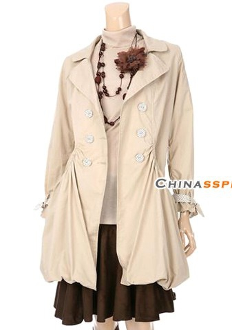 spengirl的新款风衣 一款中意的经典风衣 在秋风中演绎自己的婀娜身姿