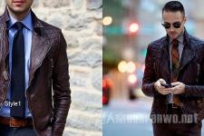 """<b>皮衣怎么穿搭才够味 就要做个""""玩皮""""男人</b>"""